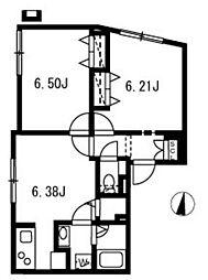新築 ブランシェ哲学堂公園[404号室号室]の間取り