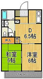 兵庫県西宮市青木町の賃貸アパートの間取り