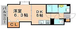 アンソレイエ[5階]の間取り