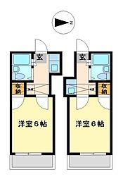 兵庫県姫路市西中島の賃貸アパートの間取り