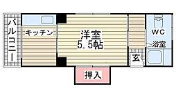 荒田マンション[401号室]の間取り