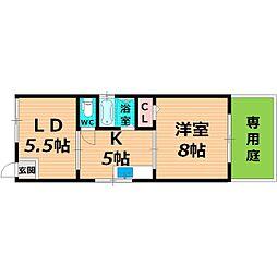 Osaka Metro谷町線 関目高殿駅 徒歩6分の賃貸テラスハウス 1階1LDKの間取り
