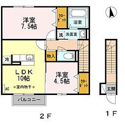 クォーレ[2階]の間取り