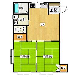住宅開発ビル[2階]の間取り
