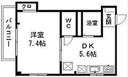 東京都荒川区町屋5丁目の賃貸マンションの間取り