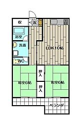 コーポラス大田[5階]の間取り