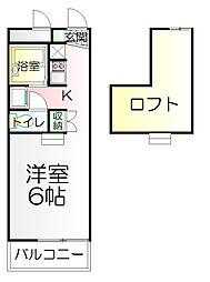 神奈川県横浜市南区別所3丁目の賃貸アパートの間取り