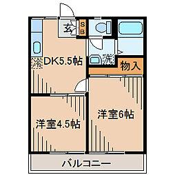 柴田ガーデンハイツD棟[103号室]の間取り