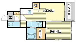 飾磨区加茂アパート[102号室]の間取り
