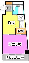 Tokorozawa KM Build (所沢KMビル)[7階]の間取り