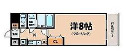 ピュアドームサウスイースト天神(605)[6階]の間取り