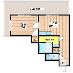 トラスティ加美[7階]の間取り