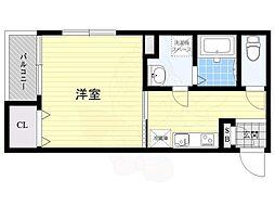 西鉄天神大牟田線 大橋駅 徒歩7分の賃貸マンション 1階1Kの間取り