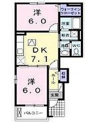 ミニヨンハウスSAYAⅡ B[1階]の間取り