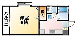 千葉県茂原市早野の賃貸アパートの間取り