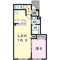 フェリス木場[1階]の間取り