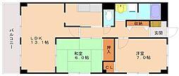 フィネス三浦[3階]の間取り