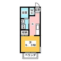 (仮)大宮区大成町計画 1階1Kの間取り