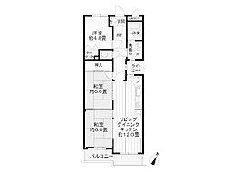 ライオンズマンション相模原南台[4階]の間取り