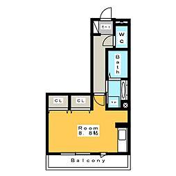 [新築] 東栄町シングル 仮称 3階ワンルームの間取り