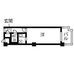 バレロワイヤル順慶町[513号室]の間取り