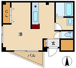 兵庫県尼崎市建家町の賃貸アパートの間取り