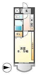 現代ハウス新栄[11階]の間取り