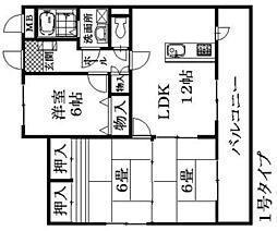 カンファタブルタガワII[2階]の間取り