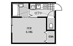 パステル東林間[1階]の間取り
