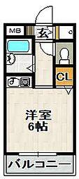クリヨン宝塚[202号室]の間取り