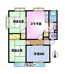 サンビレッジ神田 A[102号室]の間取り