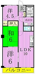 ライオンズマンション松戸第2[1階]の間取り