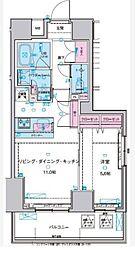 ジェノヴィア浅草IIスカイガーデン[3階]の間取り