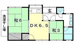 [一戸建] 愛媛県松山市朝日ケ丘2丁目 の賃貸【/】の間取り