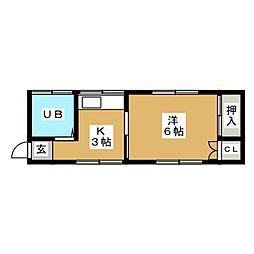 大友アパート[2階]の間取り