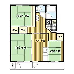 平塚田村[10-1055号室]の間取り