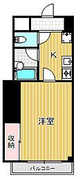 フラットコートナカジマ[1階]の間取り