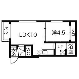 北海道札幌市中央区宮の森三条5丁目の賃貸マンションの間取り