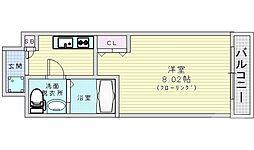 Osaka Metro谷町線 都島駅 徒歩7分の賃貸マンション 6階1Kの間取り
