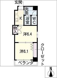 プレステージ名古屋[2階]の間取り