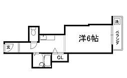 御所西シンワマンション[506号室]の間取り