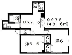 Domani(ドマーニ)[101号室号室]の間取り