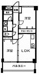 東京都目黒区八雲5丁目の賃貸マンションの間取り