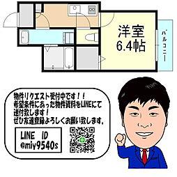 おおさか東線 野江駅 徒歩12分 6階1Kの間取り