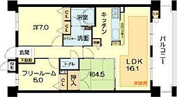 兵庫県神戸市中央区熊内橋通1丁目の賃貸マンションの間取り