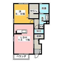 オーレ日吉II[1階]の間取り