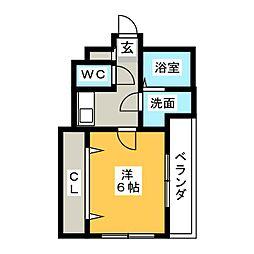 愛知県名古屋市天白区池場4丁目の賃貸マンションの間取り