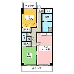 メゾンブロッサム[3階]の間取り