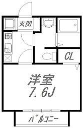 ドミトリーII[105号室]の間取り