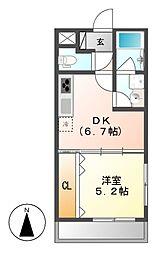 WINDOMII(ウィンドムツー)[2階]の間取り